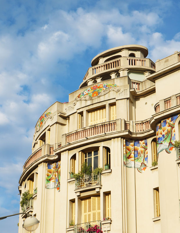 Art Deco Architecture a Nice, France