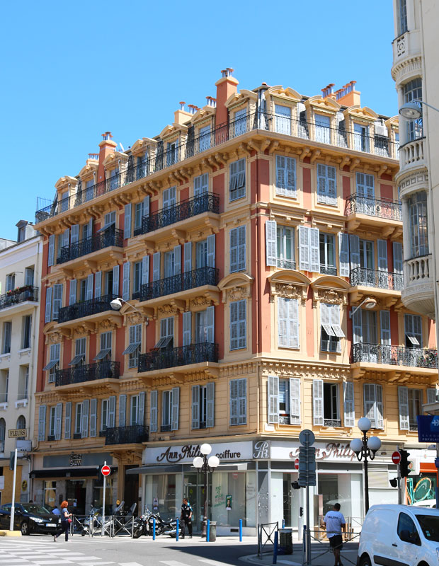 Le style Haussmannien à Nice, France